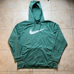 Nike Dri-Fit Green Big Swoosh Hooded Sweatshirt